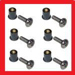 Screen / Fairing A2 Flange Allen Screws & well nuts (M5 x 16mm)  (x6) - Kawasaki Drifter 800